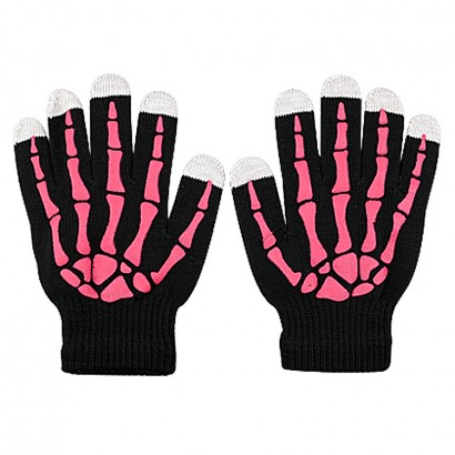skull glove for lcd sceen
