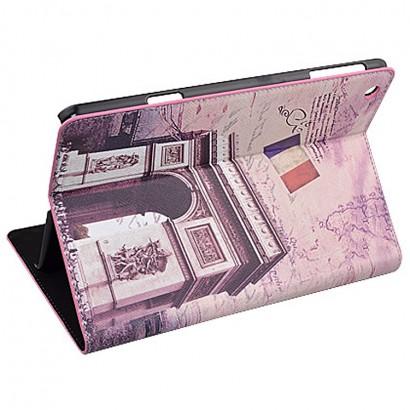 colorful printed leather case for iPad mini